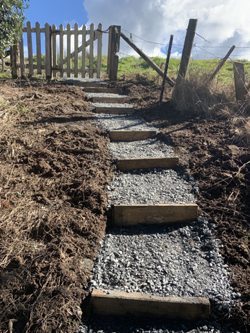 Cemetery Gets New Stairs